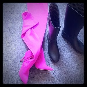 Shoes  pinks and green boots